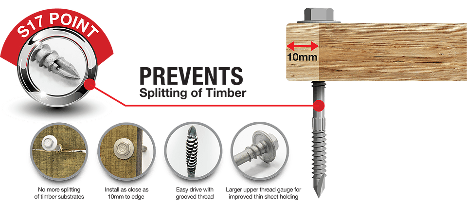 Corroshield Timtapp Roofing and Cladding Fasteners for Timber Concealed Fixing Fasteners