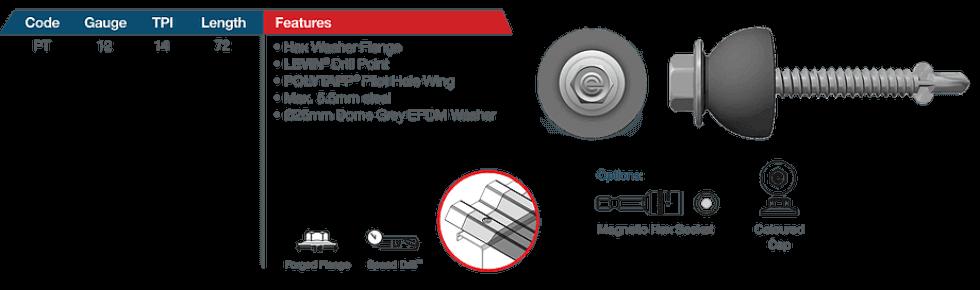 Corroshield Polytapp Skylight fixing fasteners